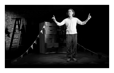 David Collins in STC's Actor on a Box: The Luck Child, 2012, photo: Grant Sparkes-Carroll ©