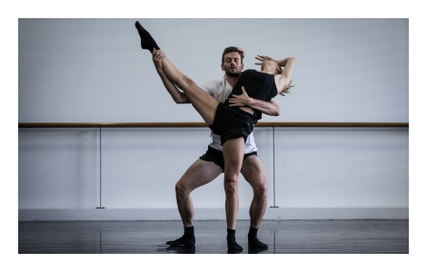 SDC1 470x300 In rehearsal for SDCs Lux Tenebris. Dancers Bernhard Knauer and Juliette Barton. Photo by Peter Greig